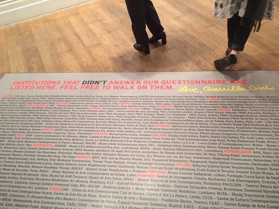 Is it even worse in Europe? - Guerrilla Girls 2016 (© Kate Grimes)
