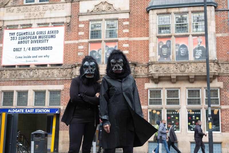 Is it even worse in Europe? - Guerrilla Girls 2016 (© David Parry/PA Wire)